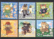 Hong Kong 2006 Osos De Peluche/Peluches/Juguetes/Animación/Ropa Set 6v (n35920)