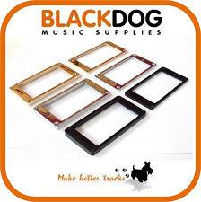 Metal humbucker pickup guitar surround plates chrome black or gold flat top