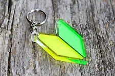 Wakaba Leaf Keychain shoshinsha JDM mark  Llavero porta-chaves Schlüsselanhänger