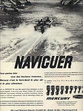 PUBLICITE 1966  MERCURY  moteur bateau