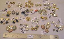 Vtg 2 Strand Clasp w Clicker Rhinestone Pearl Necklace Craft Repair Lot Jewelry