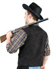 schwarze Cowboy Weste Western Cowgirl Saloon Kostüm untersch. Größen