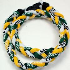 "KIDS 18"" 3 Rope Titanium Sport Necklace Green Yellow White Tornado Baseball"