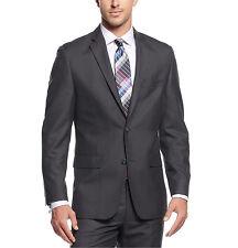 $360 Alfani Red Men's Charcoal Pinstriped Slim Fit Suit Jacket Blazer Multi-Size