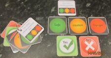 Peligro conciencia tarjetas flash, comunicación autista, ADHD, sistema de advertencia