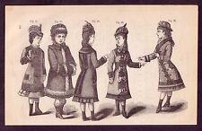 1800's Old Vintage Childrens Girls Dresses Victorian Fashion Decor Art PRINT #5