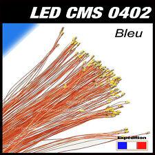 C144BE# LED CMS pré-câblé 0402 bleu fil émaillé 5 à 20pcs  - prewired LED blue
