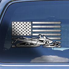 USA Flag Snowmobile Decal Sticker trail snowmobile sledding window decal sticker