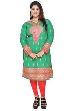 """Además de los tamaños hasta 9XL (60"""") Mujeres Túnica india Kurti Kurta Top Camisa Vestido P108C"""