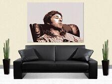 NOEL Gallagher-Oasis-Poster de soie-Art Mural Élégant-Choisir Taille & Couleur