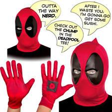 Deadpool Adult Accessories Fancy Dress Superhero Comic Book Day Week Costume Set