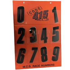 MCS NEW Mx 150mm Stickers Senior Racing Dirt Bike Motocross Black Race Numbers