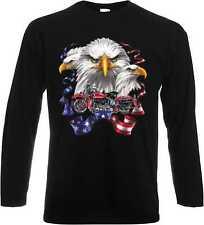 Longsleeve Langarm T Shirt mit Harley Davidson Motorraddruck Modell Eagle Pan