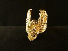 Biker Ring Adler 24 Karat Vergoldet Skull Punk Edelstahl Eagle Gold Vogel Gothik