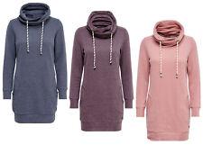 ONLY Damen Sweat Pullover NEW BETTE LONG HIGHNECK Sweatshirt blau lila rosa NEU