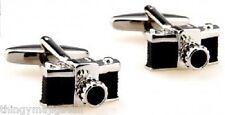 NEW PAIR RETRO CAMERA CUFFLINKS SHIRT PHOTOGRAPH PHOTOGRAPHER ART DRESS UK SALES