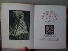 Stevenson Dr Jekyll / Mr Hyde 1926 Gravure bois 320ex