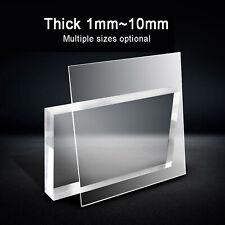 Transparent Acrylglas Plexiglas Zuschnitt Platte 1mm~10mm Dick (Mehrere Größen)