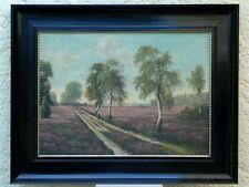 "Karl Kaufmann ""Heide paesaggio"", olio, circa 1870"