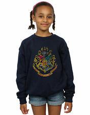 Harry Potter Bambine e ragazze Hogwarts Distressed Crest Felpa
