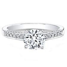 0.74 Ct Diamond Engagement Rings Ebay 14kt White Gold Brilliant Round Cut VVS1/D