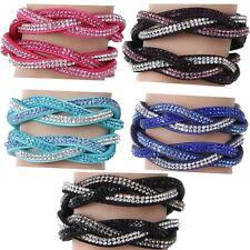 Armband Strasssteine Wickelarmband Frauen Damen Zirkonia Glitzer Armband