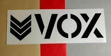 VOX BLACK CLEAR SEE THROUGH SKATE BOARD CASE STICKER