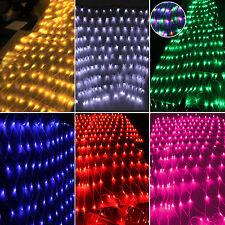Weihnachts Lichternetz Lichter Netz 96/220/880 LED Party Innen Außen Beleuchtung