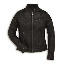 Ducati Vintage Damen Lederjacke schwarz Jacke NEU