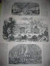 Gravure 1862 - Exposition de Londres La Cristallerie