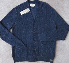 RALPH LAUREN ( Navy / Indigo ) Waffle-Knit Cardigan / Sweater Men's NWT $165