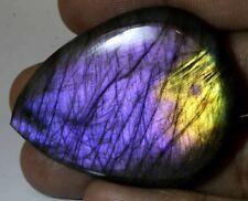 Vintage 100% Natural Purple Flashing Labradorite Pear Cabochon Collection PL-100