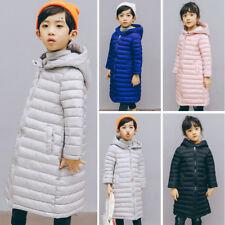 Inverno Bambine Bimbi Imbottito con Cerniera Cappotto Trapuntato Piumino Giacche