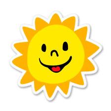 Cute Sun Happy Car Laptop Phone Vinyl Sticker  - SELECT SIZE