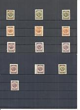 Memel, Litauen 1923, Einzelmarken aus MiNrn: 134 - 175 *, ungebraucht mit Falz *