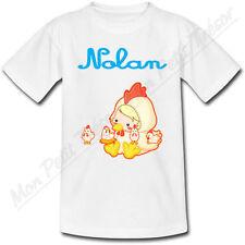T-shirt Enfant Coq Horoscope Chinois avec Prénom Personnalisé