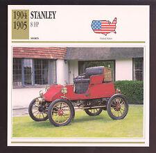 1903 Stanley Steamer Model B Runabout 1902-1927 Steam Car Photo Spec Sheet CARD