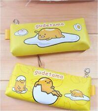 Cute Gudetama Yellow Egg PU Pencil / Pen Case Pouch Bag Comestic Storage Holder