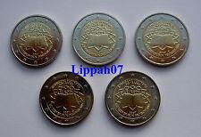 Duitsland 2 euro Verdrag van Rome 2007 A-D-F-G-J UNC