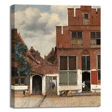 Vermeer stradina di Delft design quadro stampa tela dipinto telaio arredo casa