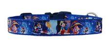 bleu 'Pinocchio' MOYEN LARGE COLLIER POUR CHIEN CHIOT 2.5cm rembourré