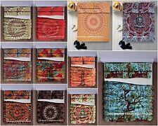 Indian Mandala Queen Bedsheet Hippie Bedspread Bohemian Dorm Tapestry Quilt Set