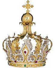 Imperiale Krone aus Messing Gold und Silber- Corona Imperiale Bicolore