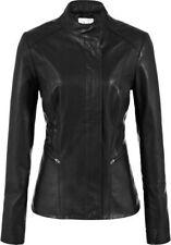 Women Leather Jacket Soft Solid Lambskin New Handmade Motorcycle Biker S M # 26