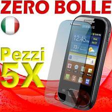 5 Pellicole Per Samsung Galaxy Pocket S5300 Proteggi Schermo Display Pellicola