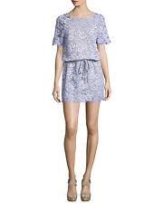 NEW DVF Diane von Furstenberg Amal Lace Lilac Nude Crystals Purple Dress M