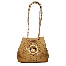 Betty Boop Cinch-Top Rhinestone Bag by Sharon Purse Handbag Beige Kf-4008