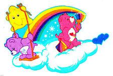 "3""-6"" Care bears friend love-a-lot rainbow cloud heat transfer iron on character"
