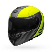 Bell SRT Modular Presence Motorcycle Helmet Gray/Hi-Vis Yellow