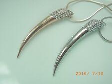 Kette Halskette Lange Kette mit Anhänger Strass Design im Silber oder Rosegold